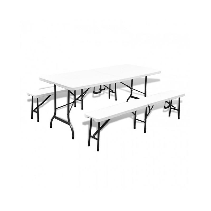 CHR AVENUE - Table de réunion polyéthylène pliable en deux, au choix