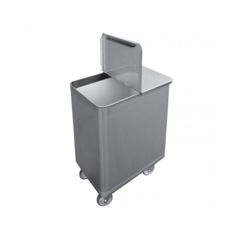 CHR-AVENUE - Bac sel / farine inox avec couvercle - 130 Litres