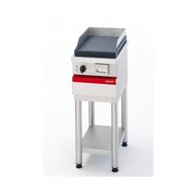 AMBASSADE - Grill électrique à poser, plaque fonte lisse 350 x 490 mm