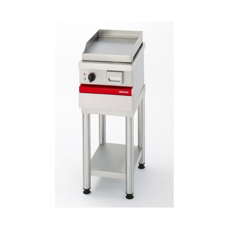 AMBASSADE - Grill électrique à poser, plaque acier lisse 367x495 mm