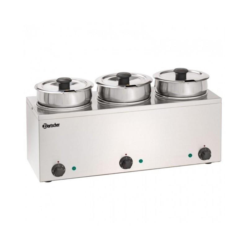 BARTSCHER - Bain-Marie Hotpot - Inox - de 0 à 95 °C - 3 pots à 3.5 L