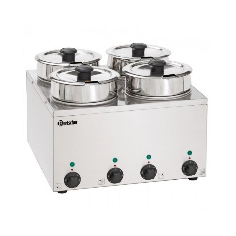 BARTSCHER - Bain-Marie Hotpot- Inox - 4 pots à 3.5 L - de 0 à 95 °C