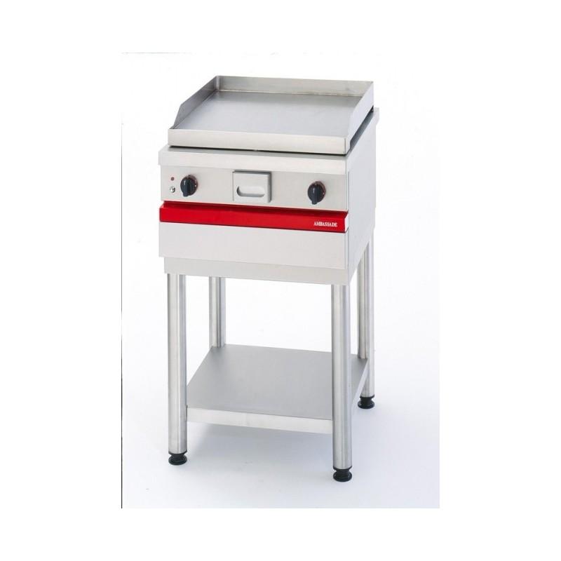 AMBASSADE - Grill électrique à poser, plaque acier lisse 567 x 495 mm