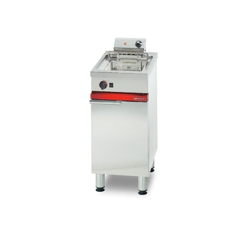 Friteuse électrique sur coffre avec vidange - 9 L