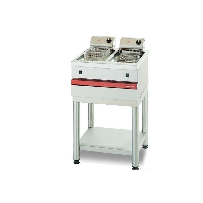 Friteuse électrique A POSER - 2 x 8 L - 2 x 7.5 kW professionnelle