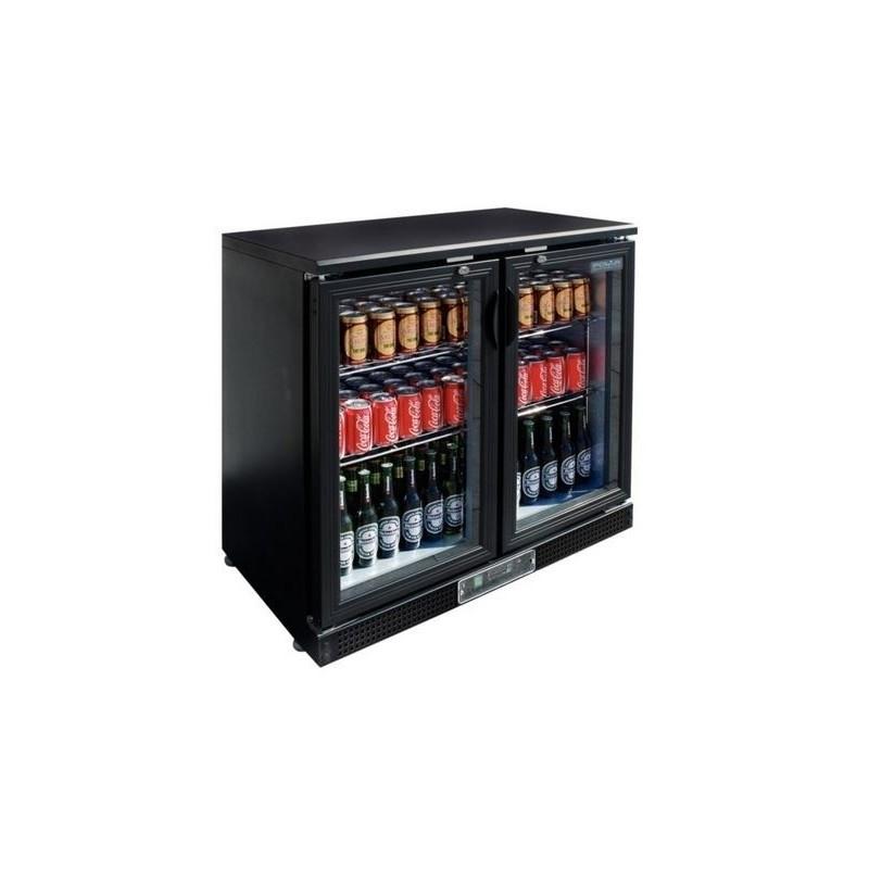 CHR AVENUE - Arrière bar réfrigéré 223 L, 2 portes vitrées battantes