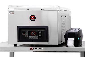 Machines à emballer sous-vide Sammic : impression directe d'étiquettes